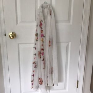 Other - White floral scarf